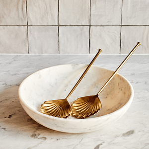 Gold Shell Salad Servers (pair)