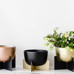 Lune Gold Planter