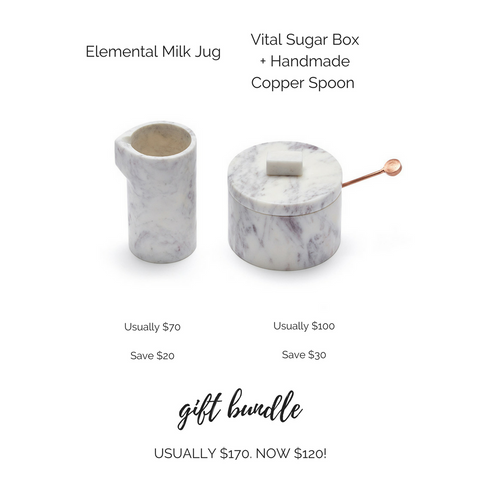 Elemental Milk Jug and Vital Sugar Box Gift Bundle