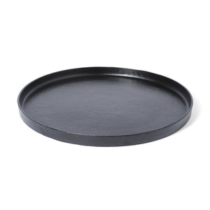 Black Round Nesting Tray (Big)
