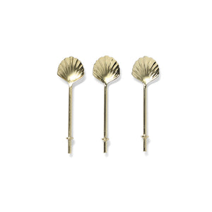 Gold Shell Teaspoons (set of 3)