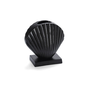 Midnight Clam Vase