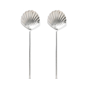 Silver Shell Salad Servers (pair)