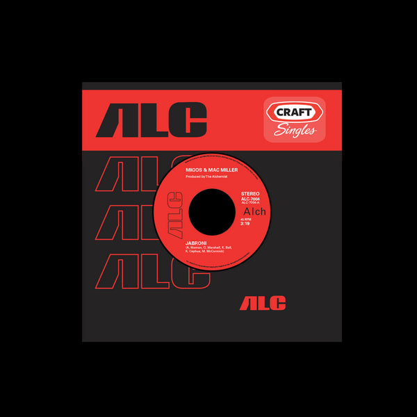 "THE ALCHEMIST CRAFT SINGLES LIMITED EDITION 45 VINYL SERIES: MIGOS & MAC MILLER - ""JABRONI"" B/W INSTRUMENTAL"