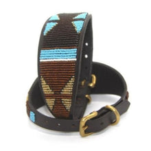 "Load image into Gallery viewer, Whippet Dog Collar<br>Neck size 11""-13"" (28-34cm) 2"" (5cm) wide"
