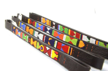 "Load image into Gallery viewer, Beaded leather Pony, Cob & Horse Brow-bands 3/4"" (2cm) wide"