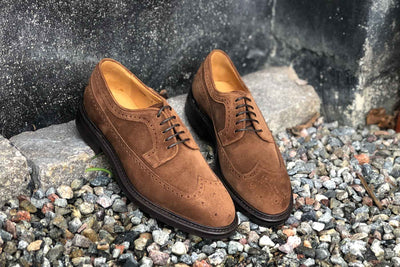 Carlos Santos 1046 Longwing Brogue in Mid Brown Suede for The Noble Shoe 7