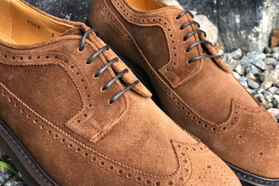 Carlos Santos 1046 Longwing Brogue in Mid Brown Suede for The Noble Shoe 6