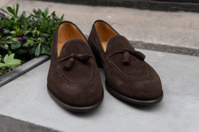 Carlos Santos 4210 Tassel Loafers in Dark Brown Suede for The Noble Shoe 7Carlos Santos 4210 Tassel Loafers in Dark Brown Suede for The Noble Shoe 8