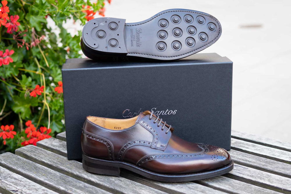 Carlos Santos 6237 Wingtip Brogue in Guimaraes Patina for The Noble Shoe 13