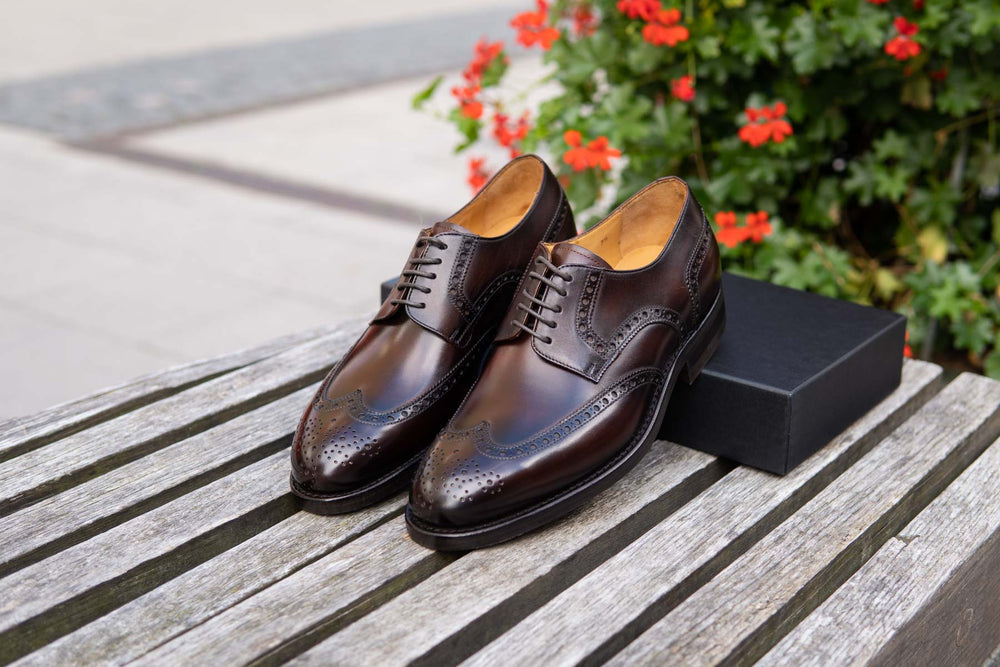 Carlos Santos 6237 Wingtip Brogue in Guimaraes Patina for The Noble Shoe 2