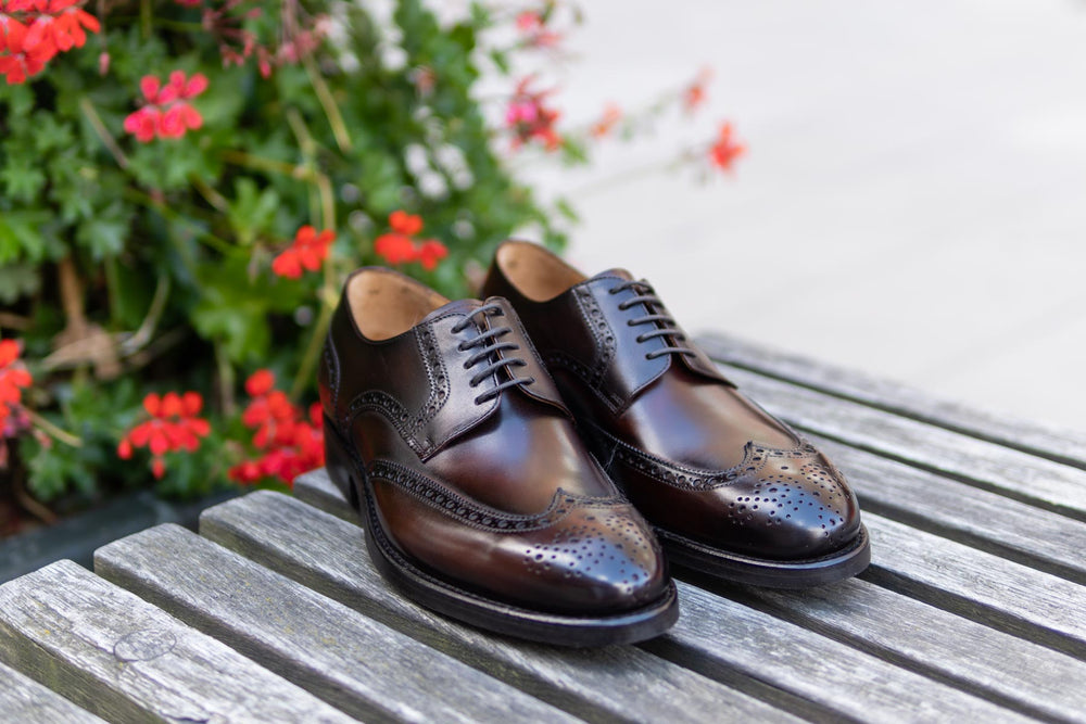 Carlos Santos 6237 Wingtip Brogue in Guimaraes Patina for The Noble Shoe 3