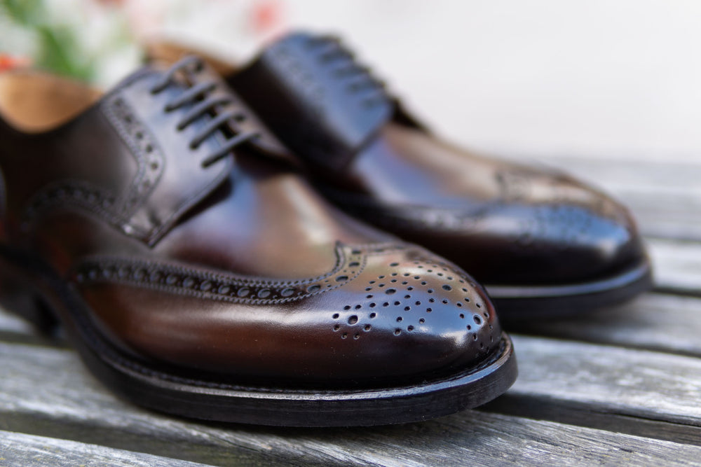 Carlos Santos 6237 Wingtip Brogue in Guimaraes Patina for The Noble Shoe 6