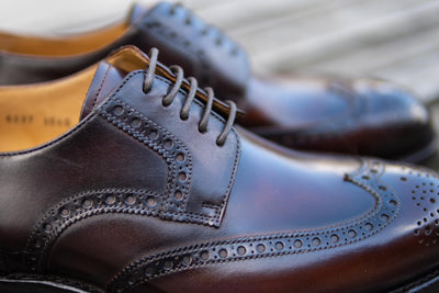 Carlos Santos 6237 Wingtip Brogue in Guimaraes Patina for The Noble Shoe 7