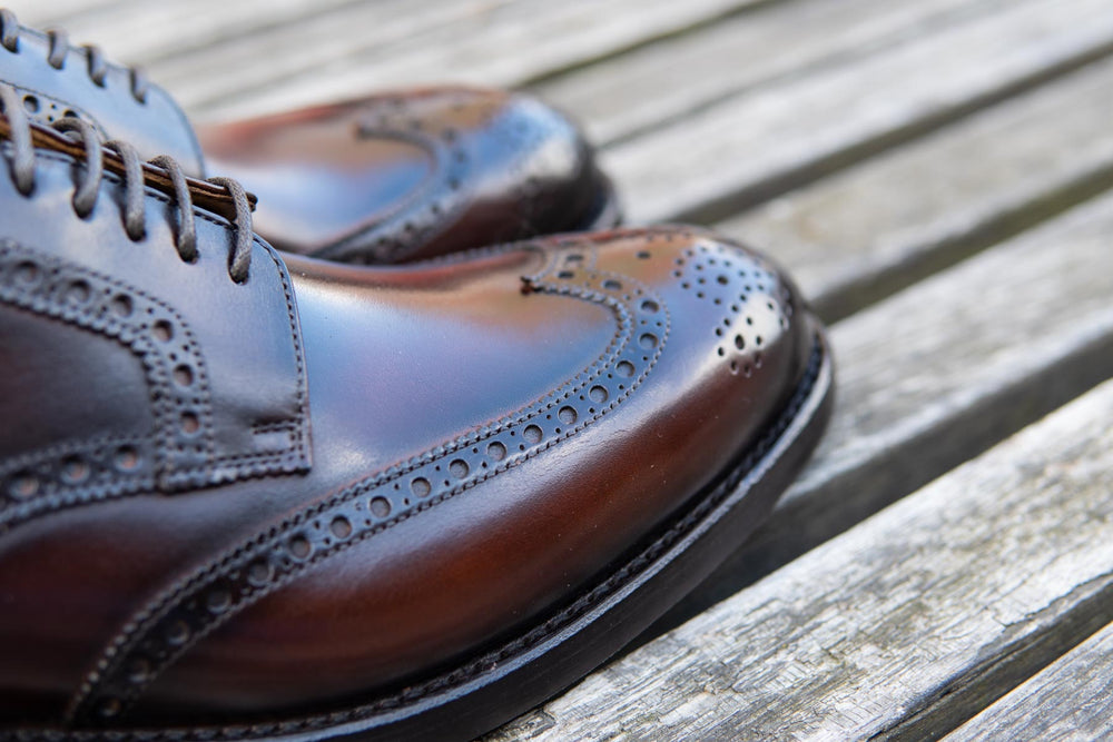 Carlos Santos 6237 Wingtip Brogue in Guimaraes Patina for The Noble Shoe 8