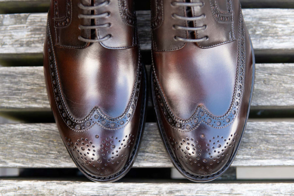 Carlos Santos 6237 Wingtip Brogue in Guimaraes Patina for The Noble Shoe 9