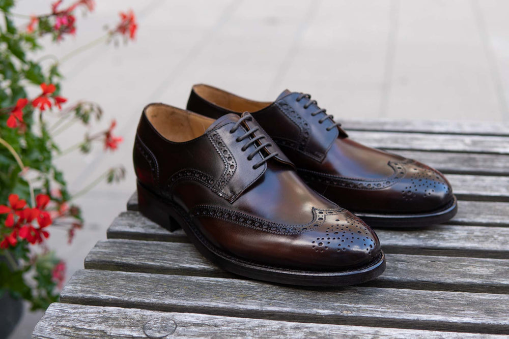 Carlos Santos 6237 Wingtip Brogue in Guimaraes Patina for The Noble Shoe 4