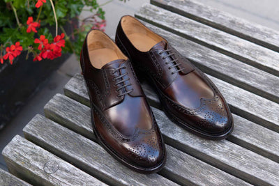 Carlos Santos 6237 Wingtip Brogue in Guimaraes Patina for The Noble Shoe 10