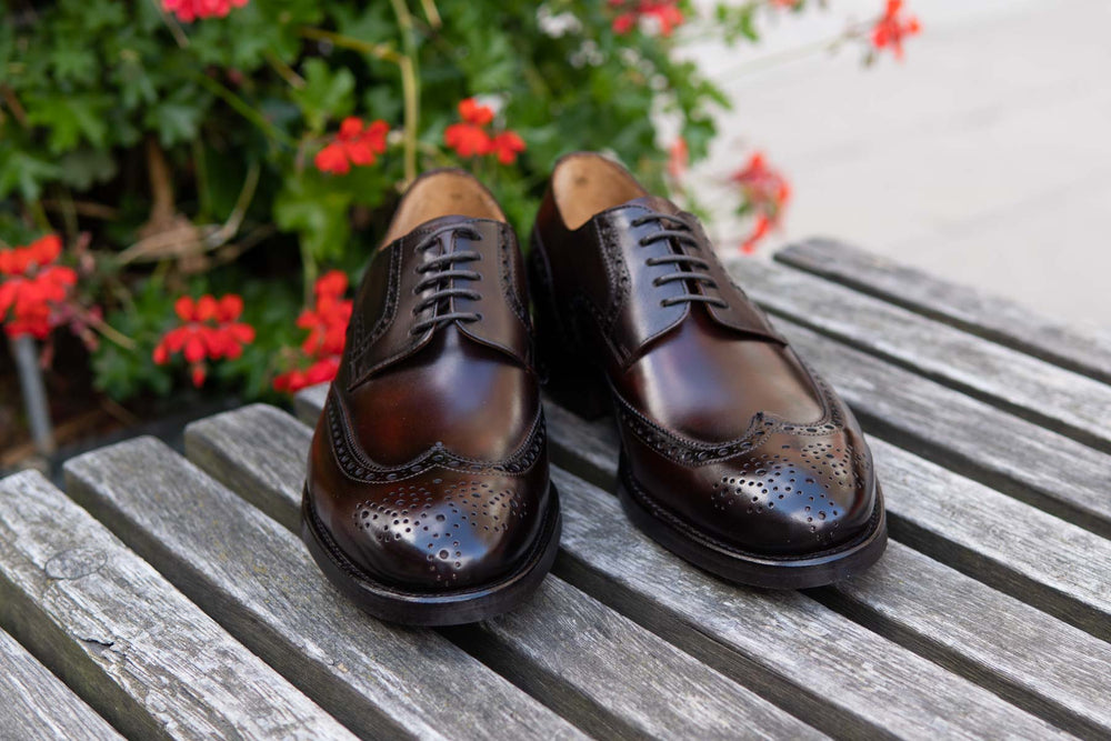 Carlos Santos 6237 Wingtip Brogue in Guimaraes Patina for The Noble Shoe 11