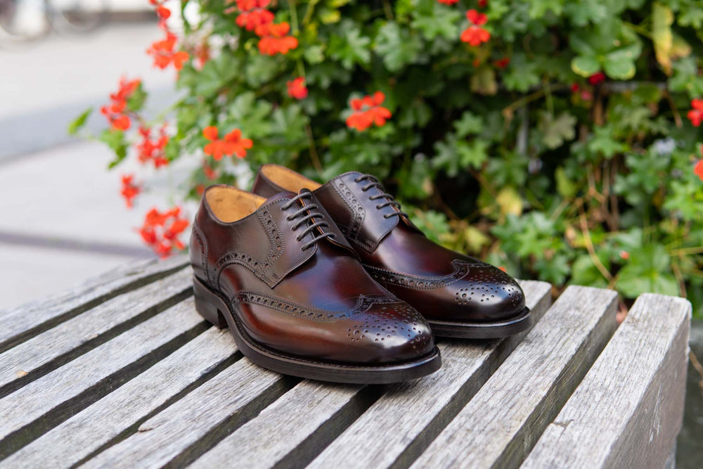 Carlos Santos 6237 Wingtip Brogue in Guimaraes Patina for The Noble Shoe 12