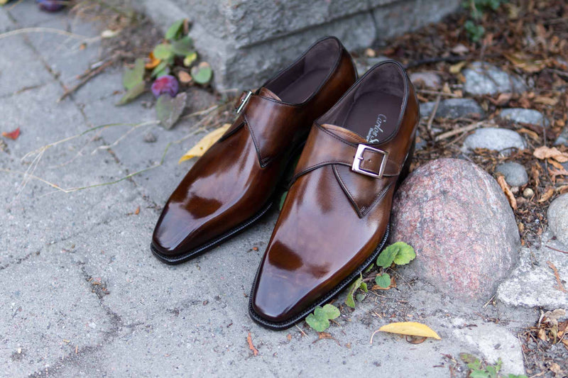 Carlos Santos 6307 Handgrade Algarve Patina Monks for The Noble Shoe 5