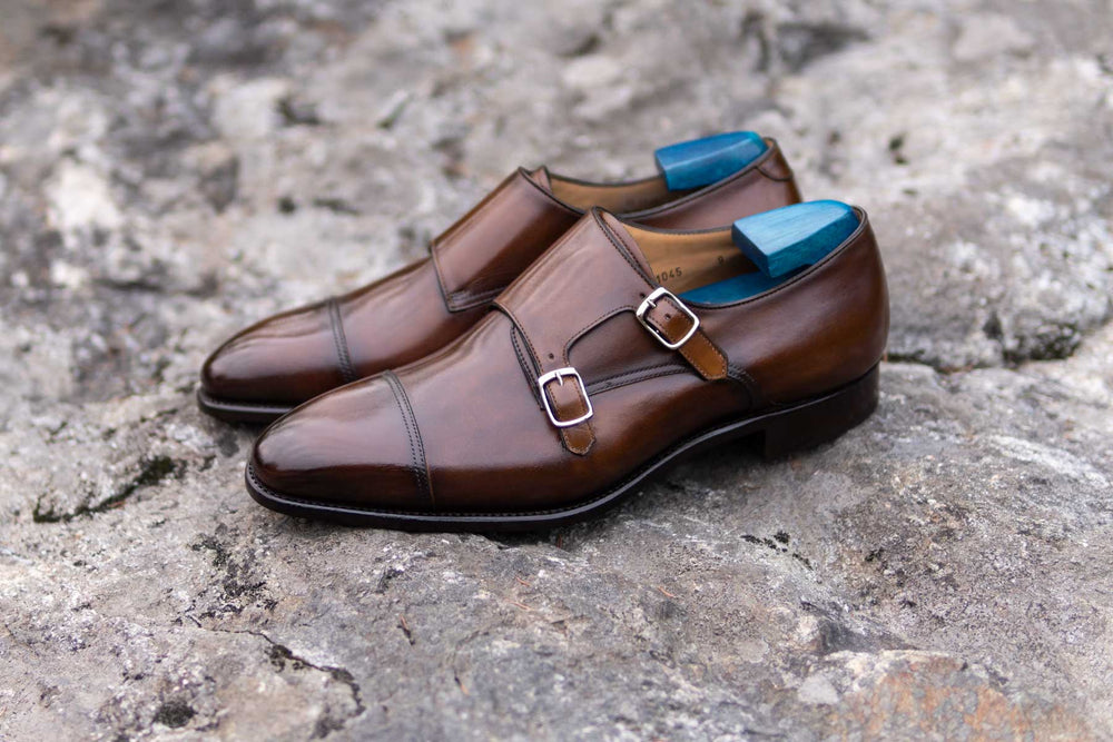 Carlos Santos 6942 Double Monks in Algarve Patina for The Noble Shoe 11
