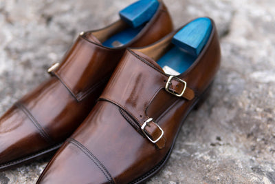 Carlos Santos 6942 Double Monks in Algarve Patina for The Noble Shoe 12