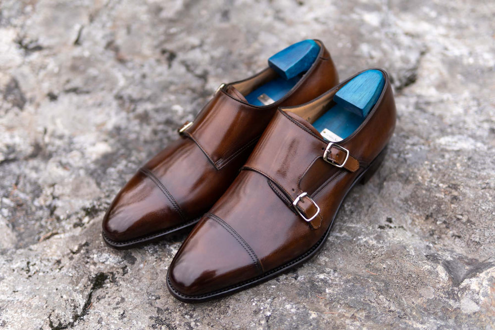 Carlos Santos 6942 Double Monks in Algarve Patina for The Noble Shoe 13