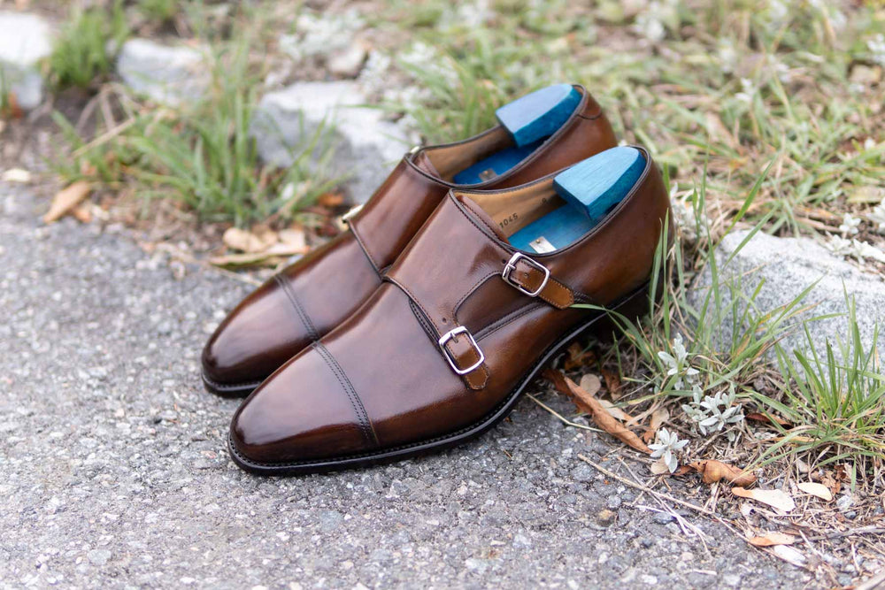 Carlos Santos 6942 Double Monks in Algarve Patina for The Noble Shoe 7