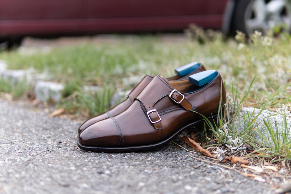 Carlos Santos 6942 Double Monks in Algarve Patina for The Noble Shoe 9