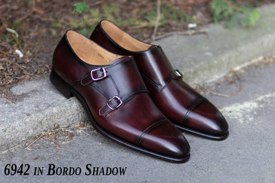 Carlos Santos 6942 in Bordo Shadow Patina for The Noble Shoe