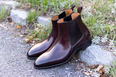 Carlos Santos 7902 Chelsea Boots in Bordo Shadow for The Noble Shoe 1