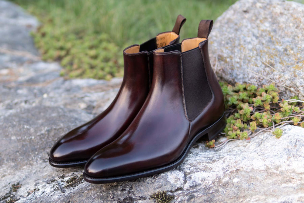 Carlos Santos 7902 Chelsea Boots in Bordo Shadow for The Noble Shoe 3