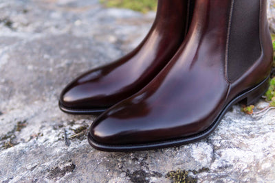 Carlos Santos 7902 Chelsea Boots in Bordo Shadow for The Noble Shoe 4