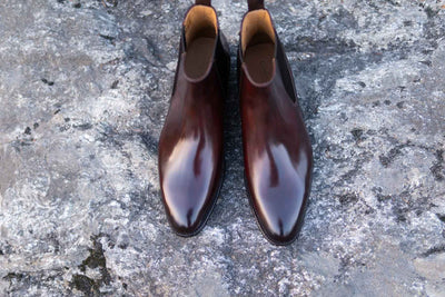 Carlos Santos 7902 Chelsea Boots in Bordo Shadow for The Noble Shoe 5
