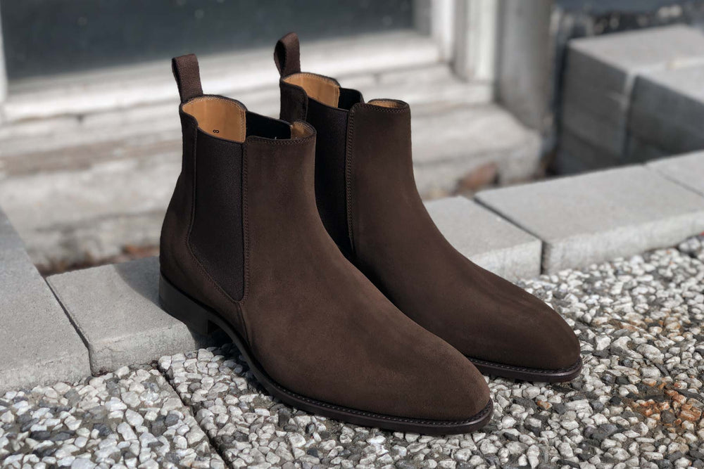 Carlos Santos 7902 Chelsea Boots in Dark Brown Suede for The Noble Shoe 1