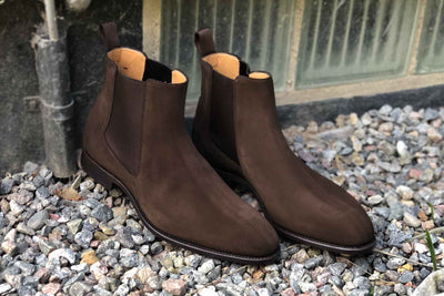 Carlos Santos 7902 Chelsea Boots in Dark Brown Suede for The Noble Shoe 2