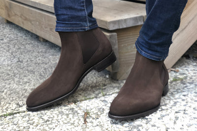 Carlos Santos 7902 Chelsea Boots in Dark Brown Suede for The Noble Shoe 3