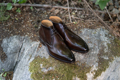 Carlos Santos 7991 Chukka Boots in Coimbra Patina for The Noble Shoe 16