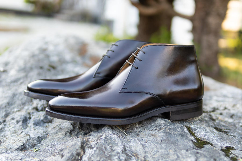 Carlos Santos 7991 Chukka Boots in Coimbra Patina for The Noble Shoe 6