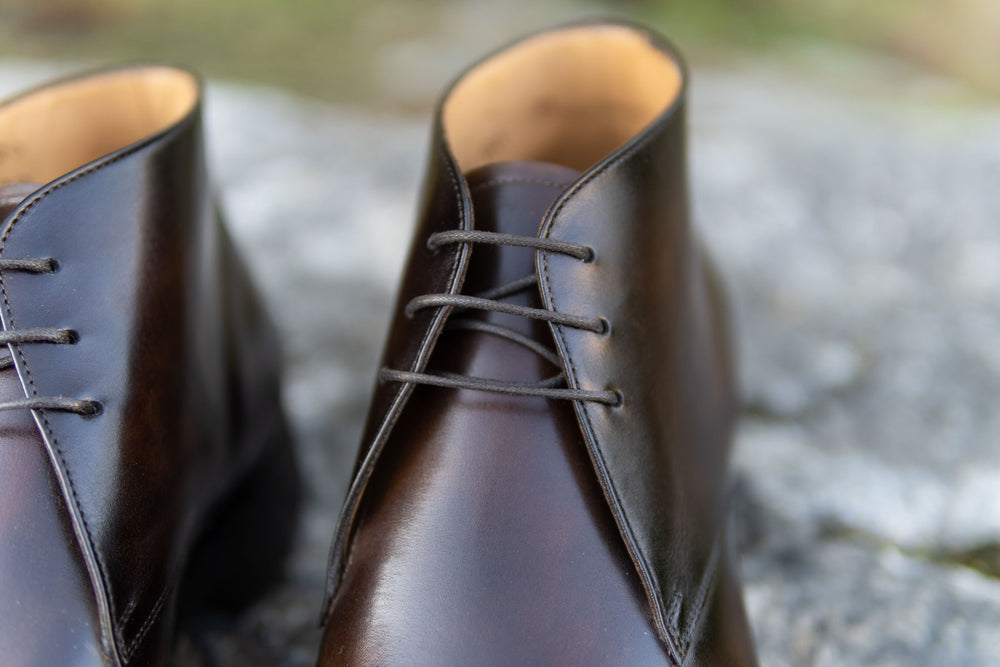 Carlos Santos 7991 Chukka Boots in Coimbra Patina for The Noble Shoe 7