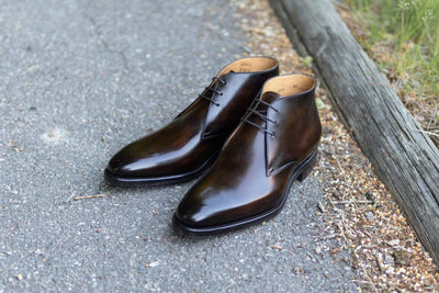 Carlos Santos 7991 Chukka Boots in Coimbra Patina for The Noble Shoe 9