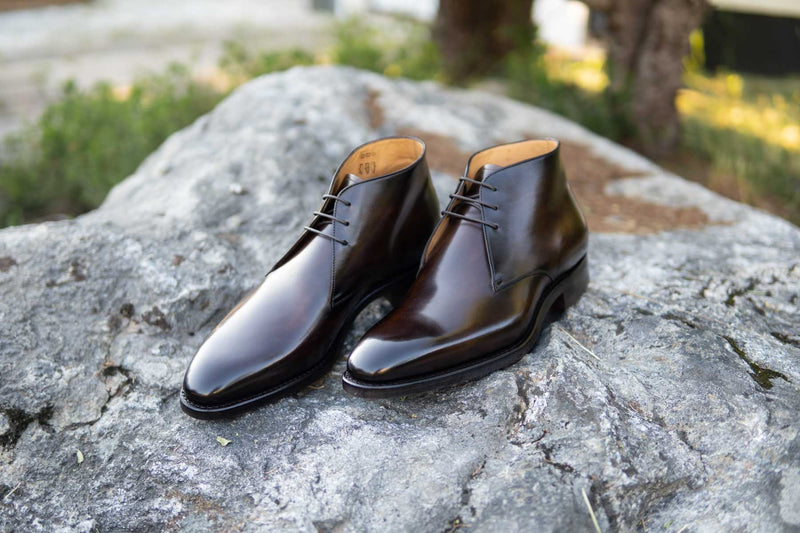 Carlos Santos 7991 Chukka Boots in Coimbra Patina for The Noble Shoe 1
