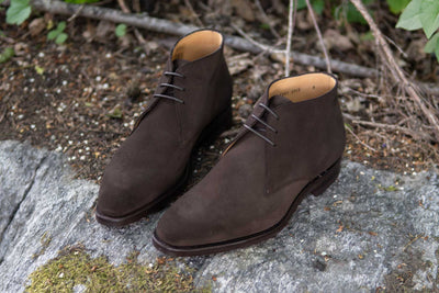 Carlos Santos 7991 Chukka Boots in Dark Brown Suede for The Noble Shoe 8