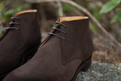 Carlos Santos 7991 Chukka Boots in Dark Brown Suede for The Noble Shoe 9