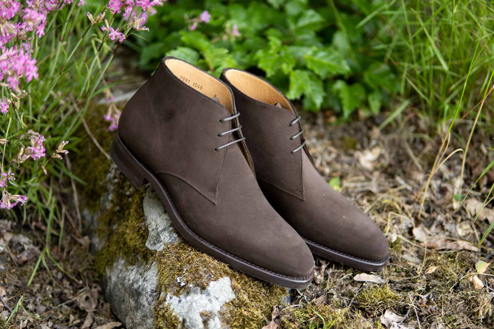 Carlos Santos 7991 Chukka Boots in Dark Brown Suede for The Noble Shoe 10