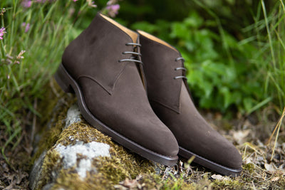 Carlos Santos 7991 Chukka Boots in Dark Brown Suede for The Noble Shoe 11