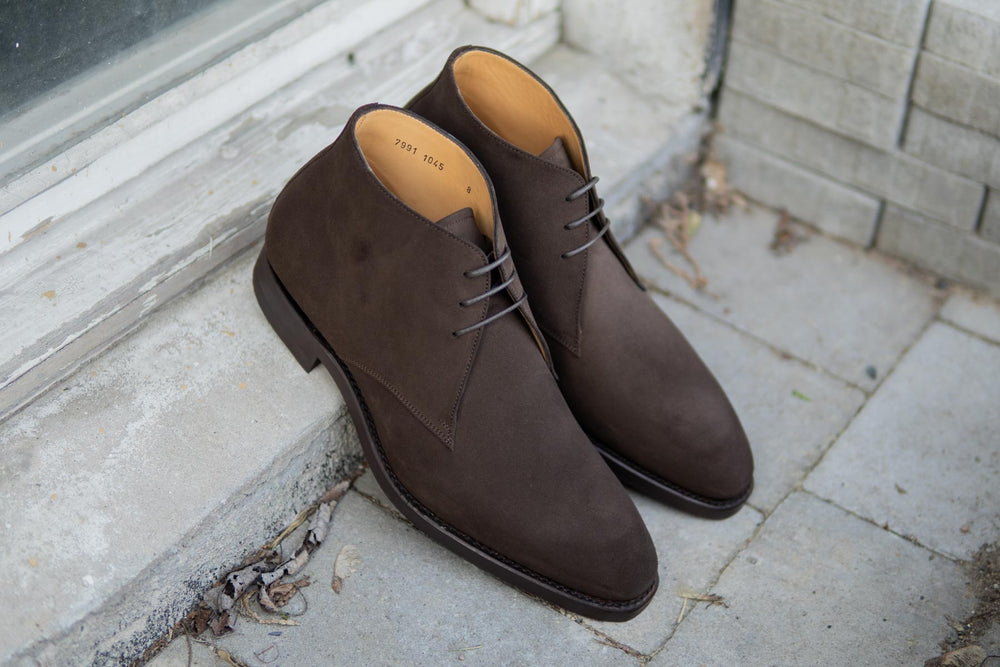 Carlos Santos 7991 Chukka Boots in Dark Brown Suede for The Noble Shoe 12