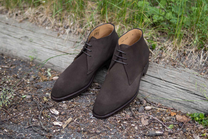 Carlos Santos 7991 Chukka Boots in Dark Brown Suede for The Noble Shoe 1