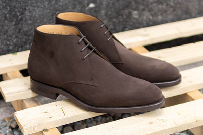 Carlos Santos 7991 Chukka Boots in Dark Brown Suede for The Noble Shoe 2